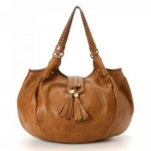 Authentic Gucci Brown Leather Marrakech Hobo Large